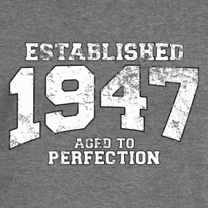 established 1947 - aged to perfection (uk) Hoodies & Sweatshirts - Women's Boat Neck Long Sleeve Top