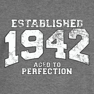 established 1942 - aged to perfection (uk) Hoodies & Sweatshirts - Women's Boat Neck Long Sleeve Top