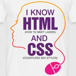 I Know Html 3 (dd)++ T-shirts - Mannen T-shirt