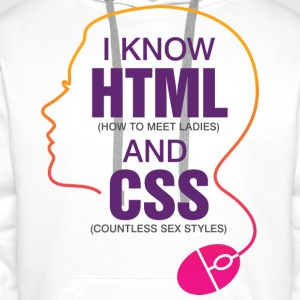 I Know Html 3 (dd)++ Hoodies & Sweatshirts - Men's Premium Hoodie
