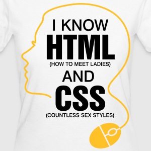 I Know Html 3 (2c)++ T-Shirts - Women's Organic T-shirt