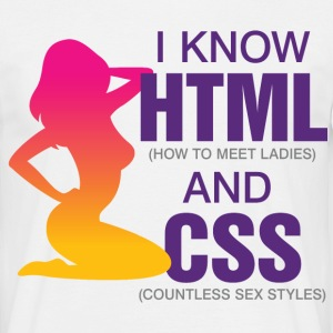 I Know Html 2 (dd)++ T-skjorter - T-skjorte for menn