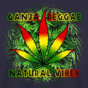 ganja reggae natural vibes Sweat-shirts - Sweat-shirt Homme