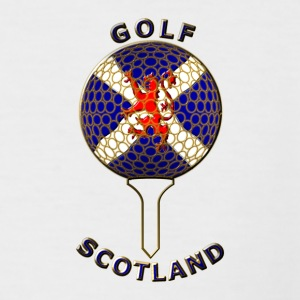 golf scotland crest_a T-Shirts - Men's Baseball T-Shirt