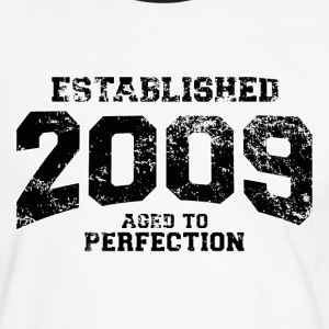 established 2009(nl) T-shirts - Mannen contrastshirt