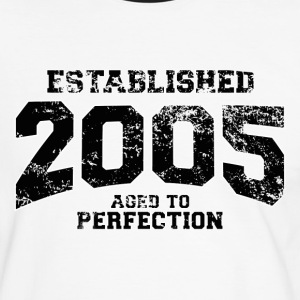 established 2005(dk) T-shirts - Herre kontrast-T-shirt