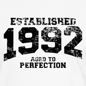 Geburtstag - established 1992 - aged to perfection - Männer Kontrast-T-Shirt
