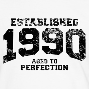 Geburtstag - established 1990 - aged to perfection - Männer Kontrast-T-Shirt