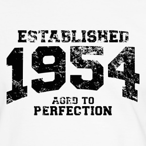 established 1954 - aged to perfection(sv) T-shirts - Kontrast-T-shirt herr