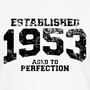 established 1953 - aged to perfection(fr) Tee shirts - T-shirt contraste Homme