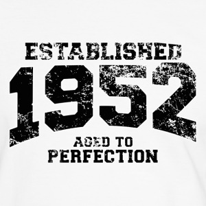 Geburtstag - established 1952 - aged to perfection - Männer Kontrast-T-Shirt