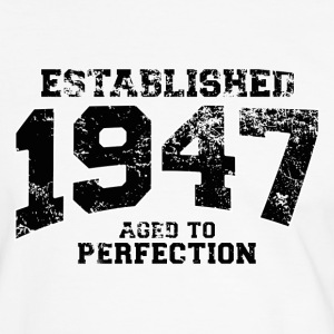 established 1947 - aged to perfection (sv) T-shirts - Kontrast-T-shirt herr