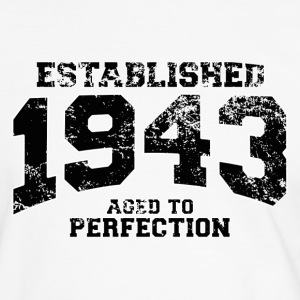 established 1943 - aged to perfection (nl) T-shirts - Mannen contrastshirt