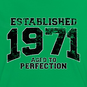 established 1971 - aged to perfection(es) Camisetas - Camiseta contraste mujer