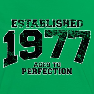 established 1977 - aged to perfection(dk) T-shirts - Dame kontrast-T-shirt