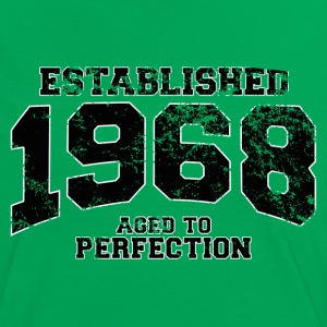 established 1968 - aged to perfection(es) Camisetas - Camiseta contraste mujer