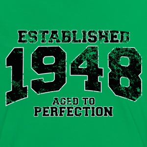 established 1948 - aged to perfection(es) Camisetas - Camiseta contraste mujer
