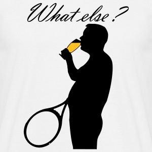 Beer and tennis. What else ? T-Shirts - Men's T-Shirt