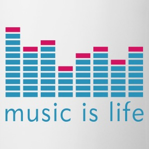 Music is life Equalizer / Music is life equaliser Kubki - Kubek