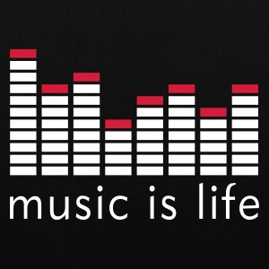 Music is life Equalizer / Music is life equaliser Torby - Torba materiałowa