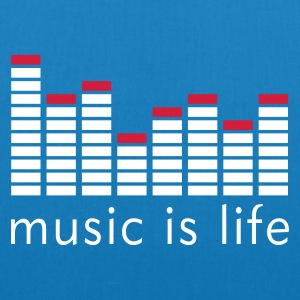 Music is life Equalizer / Music is life equaliser Taschen - Bio-Stoffbeutel