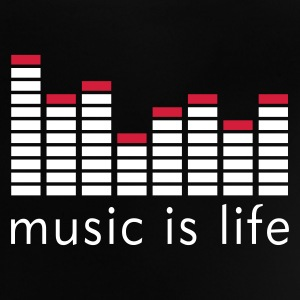 Music is life Equalizer / Music is life equaliser Babyskjorter - Baby-T-skjorte
