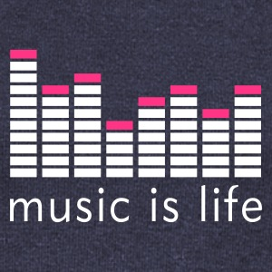 Music is life Equalizer / Music is life equaliser Sweaters - Vrouwen trui met U-hals van Bella