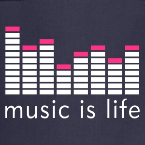 Music is life Equalizer / Music is life equaliser Fartuchy - Fartuch kuchenny