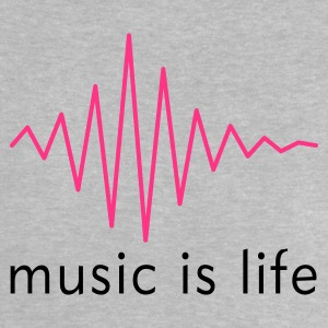 Music is life Pulse / Music is life soundwave Babytröjor - Baby-T-shirt