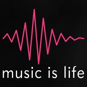 Music is life Pulse / Music is life soundwave Baby T-Shirts - Baby T-Shirt