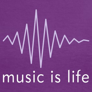 Music is life Pulse / Music is life soundwave T-Shirts - Women's Ringer T-Shirt