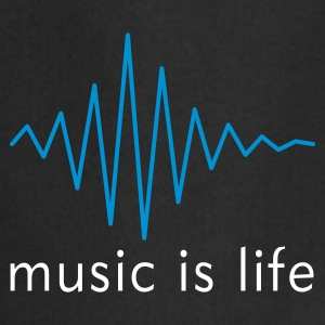 Music is life Pulse / Music is life soundwave Fartuchy - Fartuch kuchenny