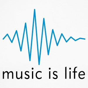 Music is life Pulse / Music is life soundwave Langarmshirts - Männer Baseballshirt langarm