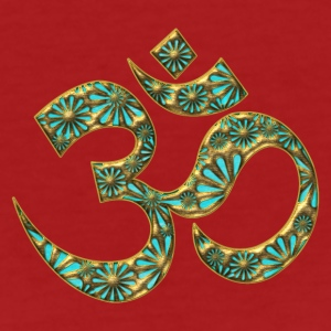 Sacred OM (AUM - I AM), turquoise, manifestation of spiritual strength, The energy symbol gives balance, peace and bliss T-shirts - Organic damer