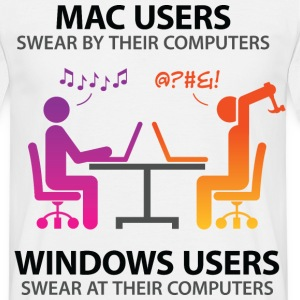 Mac Users 2 (dd)++ T-Shirts - Men's T-Shirt
