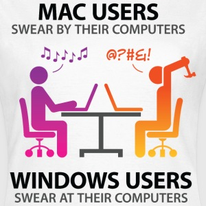 Mac Users 2 (dd)++ T-shirts - T-shirt dam