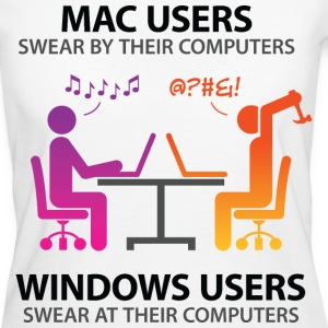 Mac Users 2 (dd)++ T-shirts - Ekologisk T-shirt dam