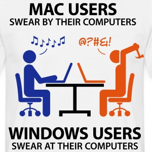 Mac Users 2 (3c)++ T-shirts - T-shirt herr