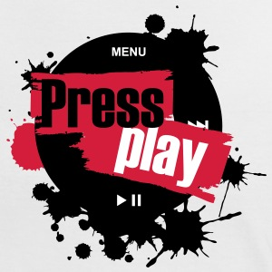 press_play2_undirt_buttons T-Shirts - Frauen Kontrast-T-Shirt
