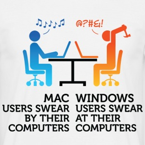 Mac Users 1 (dd)++ T-shirts - Herre-T-shirt