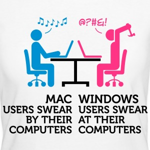 Mac Users 1 (3c)++ T-shirts - Ekologisk T-shirt dam