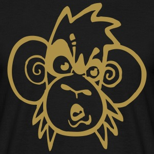 monkey gold t-shirt - Mannen T-shirt