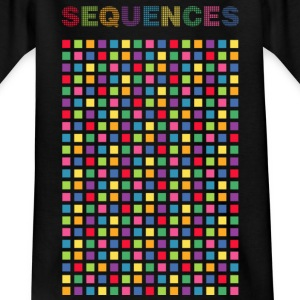 color sequences square - Teenager T-shirt