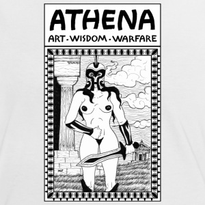 The Goddess Athena. The Greek Divinty Nude. - Women's Ringer T-Shirt