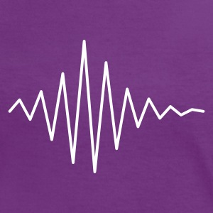 Pulse / soundwave T-shirts - Vrouwen contrastshirt