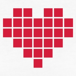 Pixel Love / pixel heart T-Shirts - Frauen Bio-T-Shirt