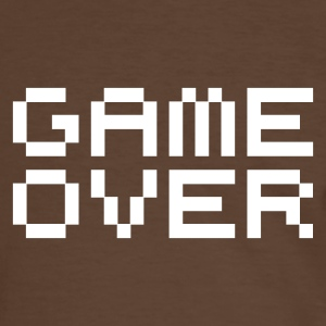 Game over / game over pixels T-shirts - Mannen contrastshirt