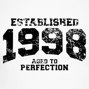 Geburtstag - established 1998 - aged to perfection - Männer Baseballshirt langarm