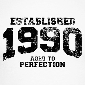 established 1990 - aged to perfection(fr) Tee shirts manches longues - T-shirt baseball manches longues Homme