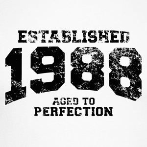 Geburtstag - established 1988 - aged to perfection - Männer Baseballshirt langarm